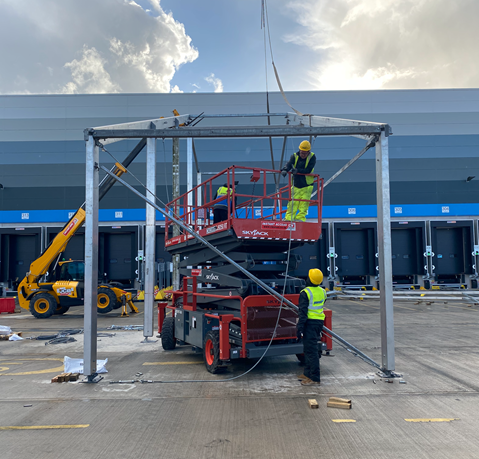Temporary Structure Erection